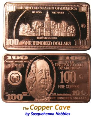 The Copper Cave By Susquehanna Hobbies Cmc 1 Troy Ounce