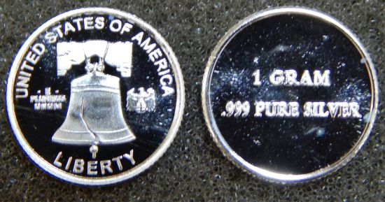 CMC 1 Gram Silver Round - Liberty Bell