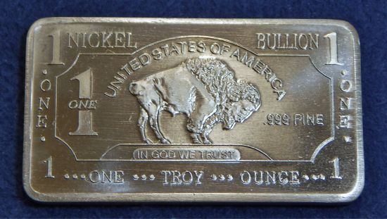 Cmc 1 Troy Ounce Nickel Bar Buffalo