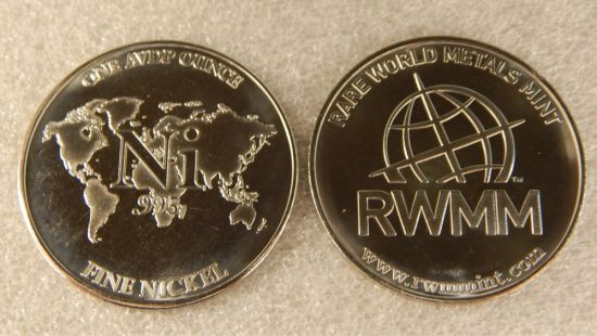 RMWW 1 Ounce Nickel Round