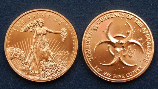 Zombucks™ 1 Oz Copper Round - #10 The Saint