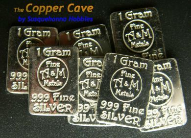 The Copper Cave By Susquehanna Hobbies A Amp M 1 Gram Silver Bar