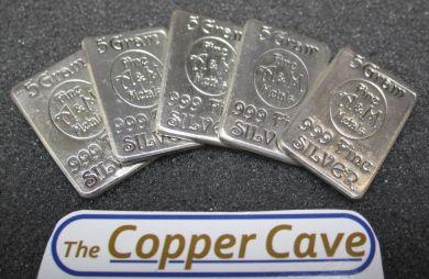 The Copper Cave By Susquehanna Hobbies A Amp M 5 Gram Silver Bar