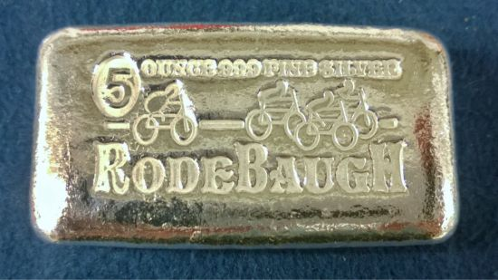 "Rodebaugh Left Behind Series #1 ""ByeCycle"" 5 Troy Ounce Silver Ingot"